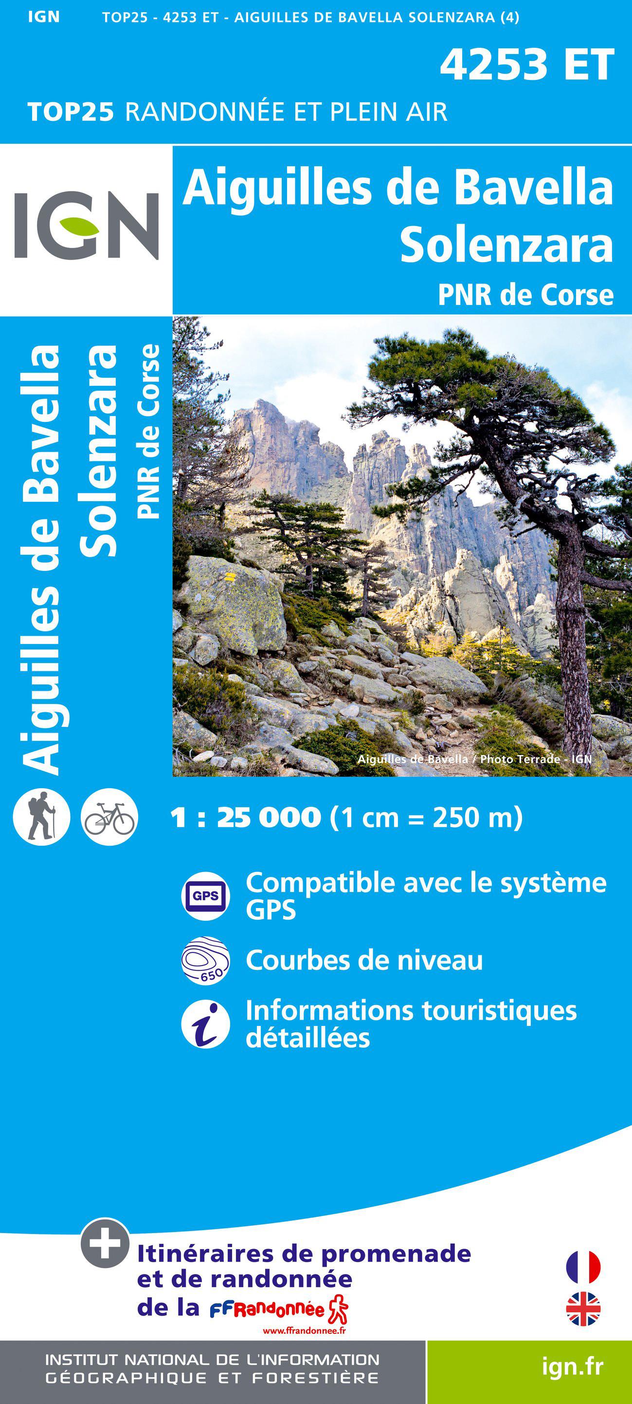 IGN 4253 ET Aiguilles de Bavella / Solenzara / PNR de Corse
