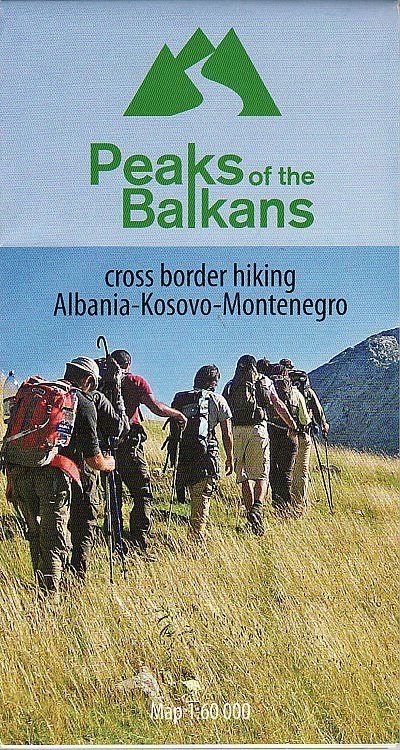 Peaks of the Balkans (Albania - Kosovo - Montenegro) - Mapa