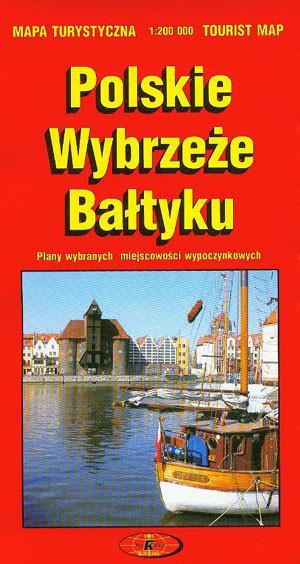 Poważnie Polskie Wybrzeże Bałtyku mapa turystyczna - Mapa składana - FotKart PG42