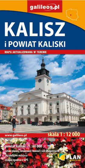 Kalisz I Powiat Kaliski Mapa Skladana Plan