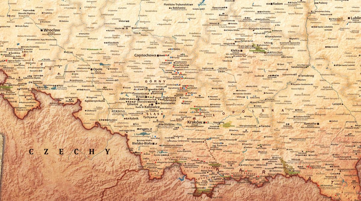 Turystyczna Mapa Polski Effekt