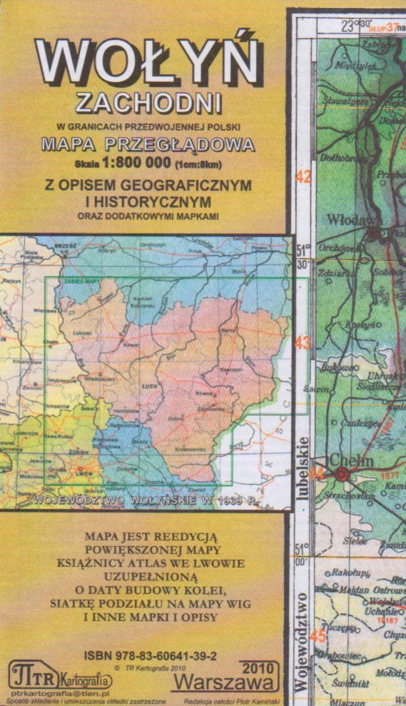 Wolyn Zachodni Mapa Przegladowa Z Opisem Geograficznym Mapa
