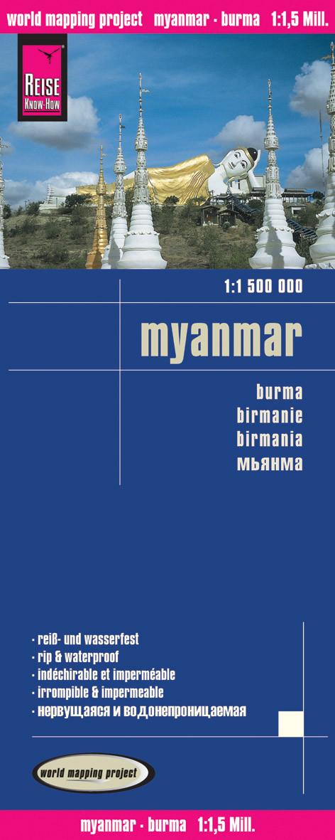 Myanmar mapa wodoodporna