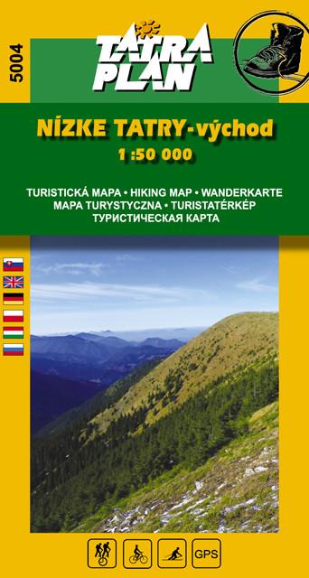S5004 Niżne Tatry - wschód - Mapa