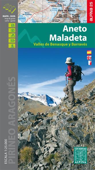 Aneto Maladeta - Mapa turystyczna
