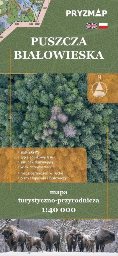 Puszcza Białowieska mapa turystyczno-przyrodnicza