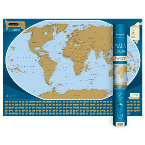 Świat mapa zdrapka