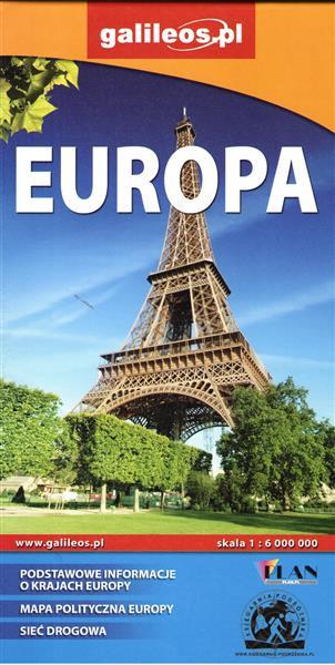Europa mapa polityczno-drogowa