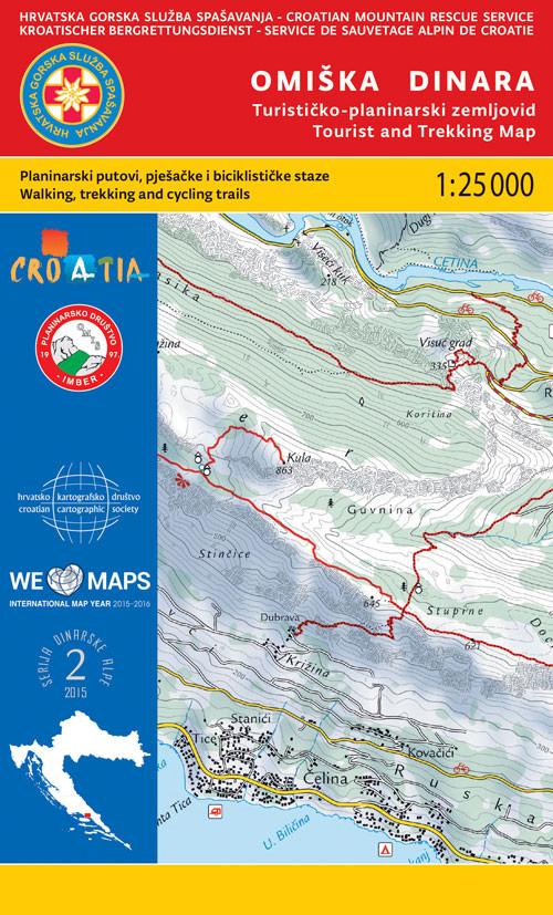 Omiska Dinara tourist and trekking map