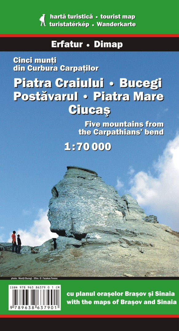 Piatra Craiului, Bucegi, Postavarul, Piatra Mare, Ciucas - Mapa turystyczna