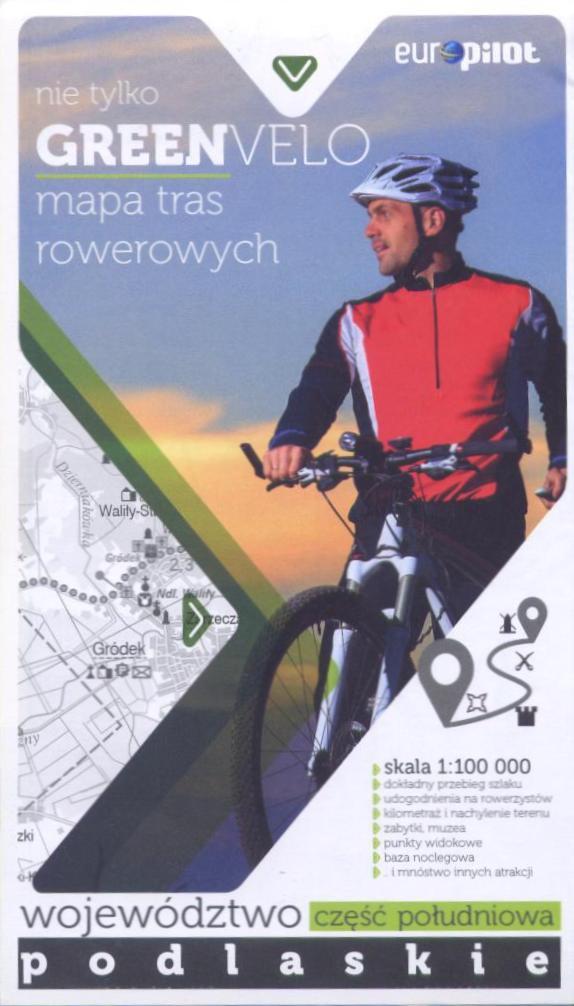 Green Velo mapa rowerowa Województwo Podlaskie cz. południowa