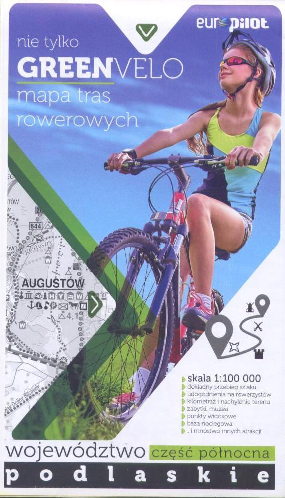 Green Velo mapa rowerowa Województwo Podlaskie cz. północna