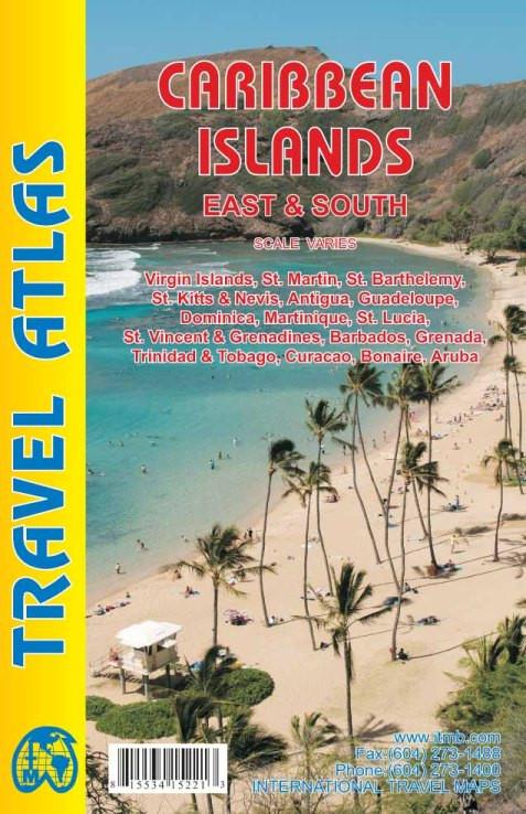 Caribbean Islands East & South travel atlas