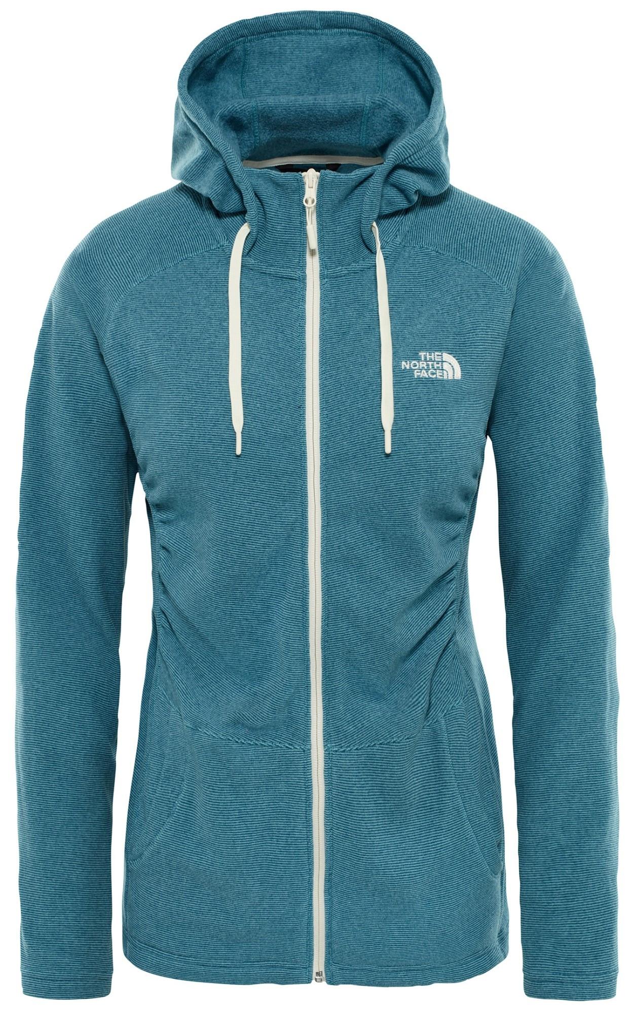 Bluza polartec Mezzaluna FZ Hoodie Women's storm blue stripe