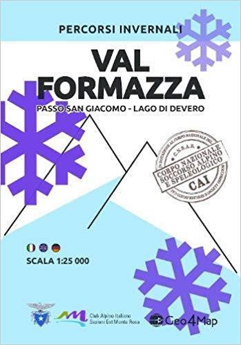 Val Formazza Passo San Giacomo-Lago di Devero Mapa zimowa