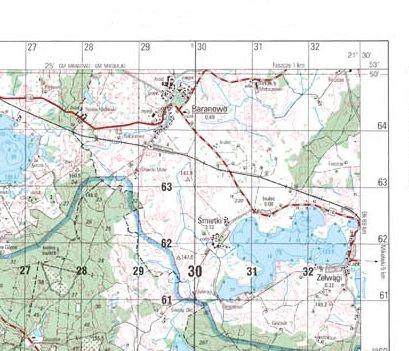 N 34 90 A B Szczytno Mapa Topograficzna Mapa Skladana Zgw