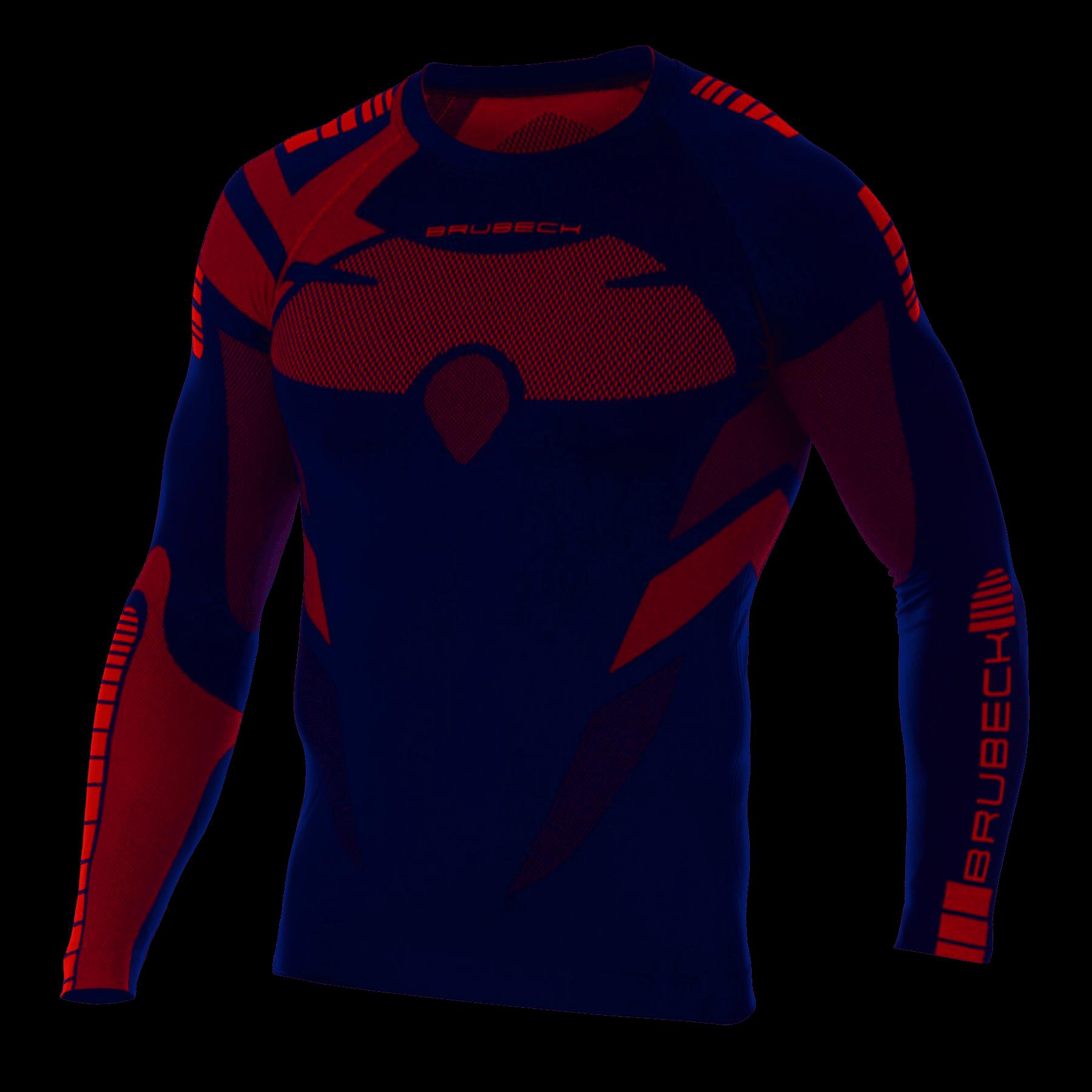 Koszulka Dry LS13080 granat/czerwony