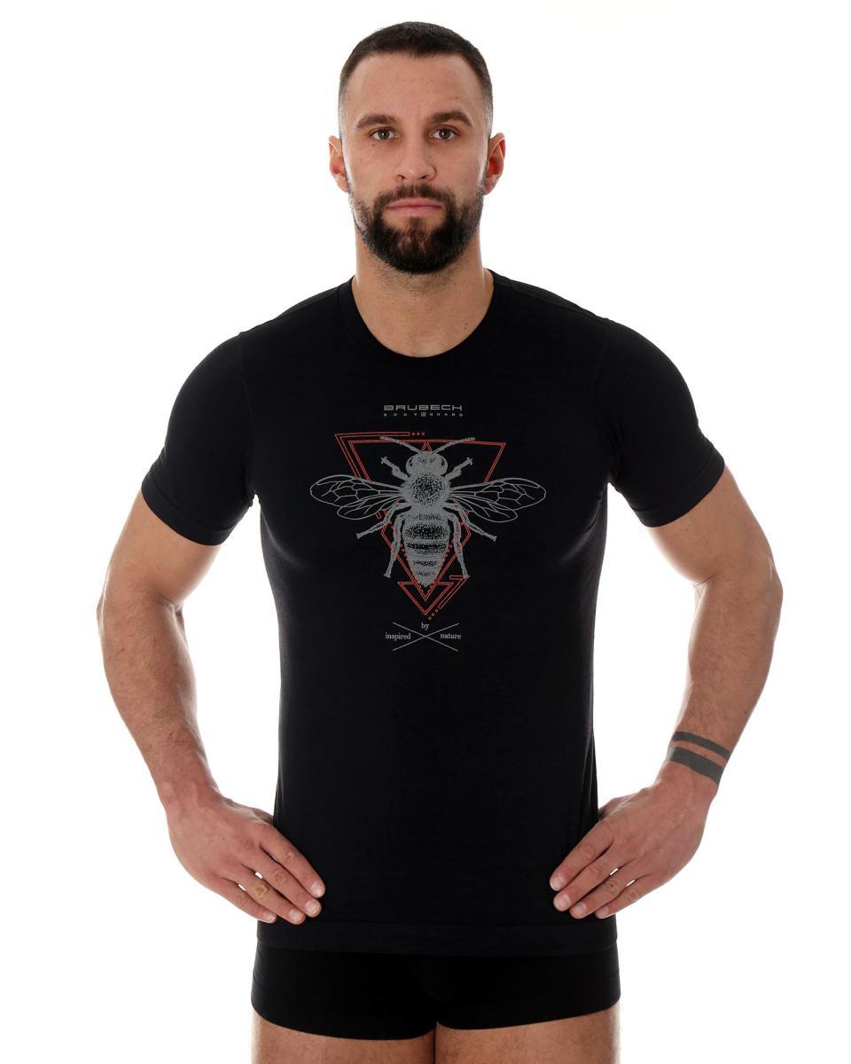 Koszulka Outdoor Wool PRO czarny,czarny-pszczoła