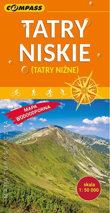Tatry Niskie mapa laminowana