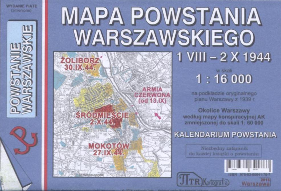 Powstanie Warszawskie Mapa Plan Skladany Ptr Kartografia