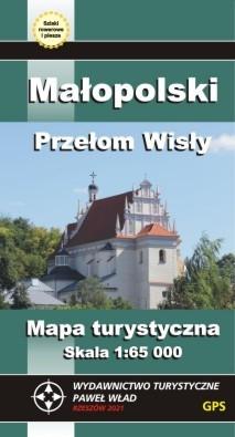 Małopolski Przełom Wisły mapa turystyczna