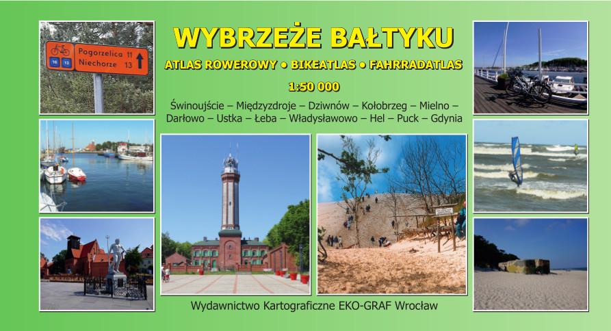 Wybrzeże Bałtyku - atlas rowerowy