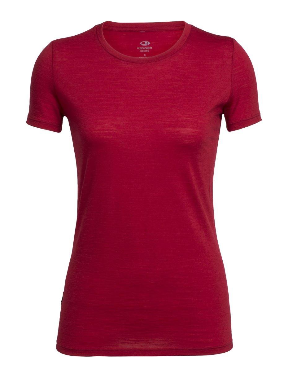 Koszulka Tech Lite SS Crewe Women's oxblood