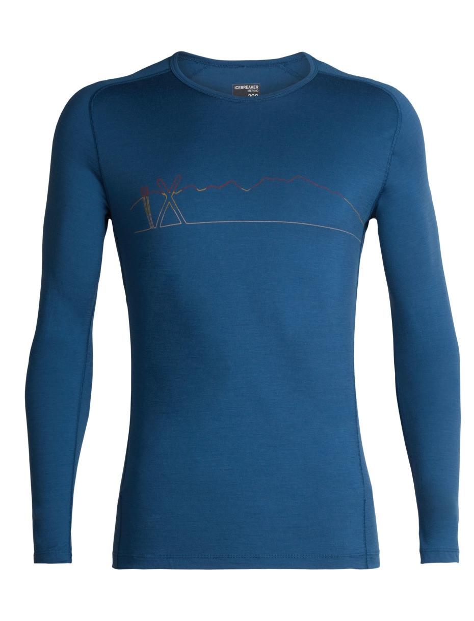 Koszulka BF200 Oasis LS Crewe Single Line Ski prussian blue