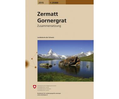 Zermatt Gornergrat - Mapa turystyczna