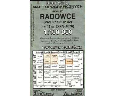 WIG Radowce (Bukowina Rumuńska) - Mapa