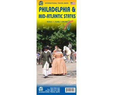 Philadelphia & Mid-Atlantic States - Mapa wodoodporna