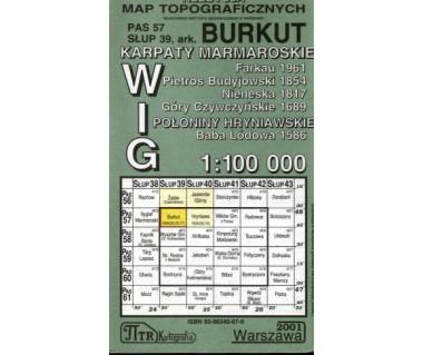 WIG Burkut/Sygiet Marmaroski - Mapa