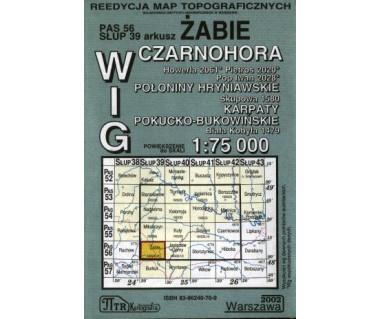 WIG Żabie, Czarnohora (Połoniny Hryniawskie, Karpaty Pokucko-Bukowińskie - Mapa