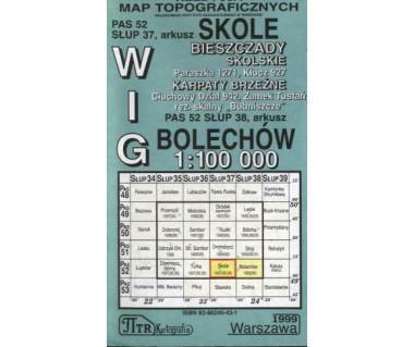 WIG Skole/Bolechów (Bieszczady Skolskie,Karpaty Brzeżne) - Mapa