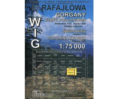 WIG Rafajłowa (Gorgany cz. pd., Świdowiec, Poł. Krasna) - Mapa