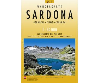 Sardona - Mapa turystyczna