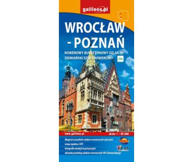 Wrocław - Poznań - szlaki turystyczne mapa syntetyczna wodoodporna