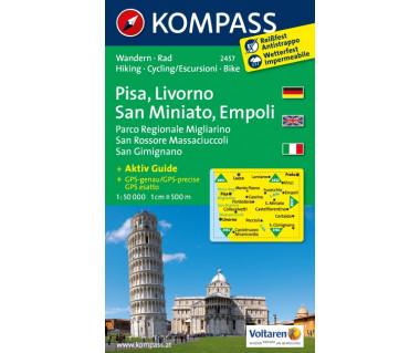 Pisa, Livorno, San Miniato, Empoli (folia) - Mapa turystyczna