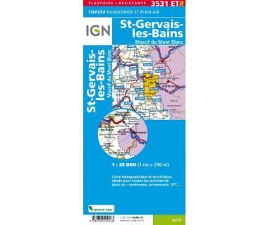 IGN 3531 ETR St-Gervais-les-Bains / Masiff du Mont Blanc