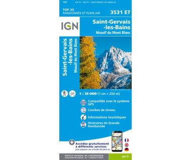 IGN 3531 ET St-Gervais-les-Bains / Massif du Mont Blanc