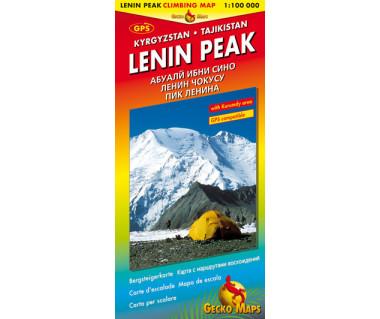Pik Lenin - Mapa