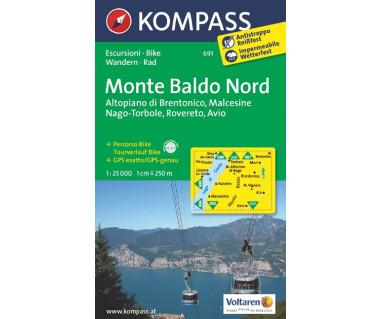 Monte Baldo Nord (folia) - Mapa turystyczna