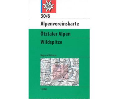Otztaler Alpen, Wildspitze - Mapa turystyczna