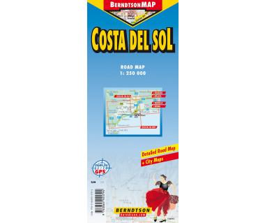 Costa del Sol - Mapa laminowana