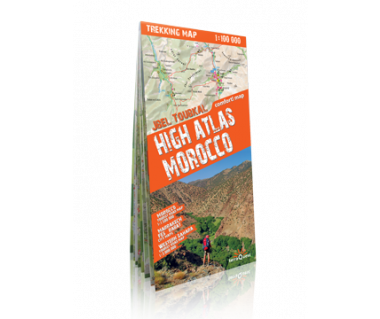 High Atlas, Morocco trekking map