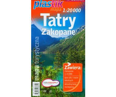 Tatry, Zakopane mapa foliowana