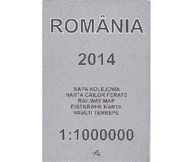 Romania 2014 mapa kolejowa