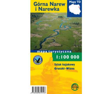 Górna Narew i Narewka, szlak kajakowy Gruszki-Wizna (folia) - Mapa