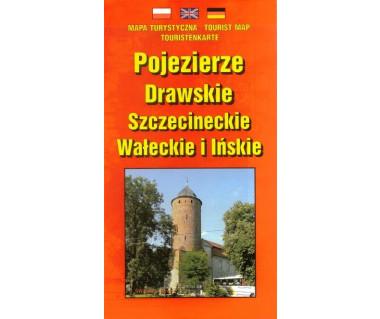 Pojezierze Drawskie, Szczecineckie, Wałeckie i Ińskie - Mapa
