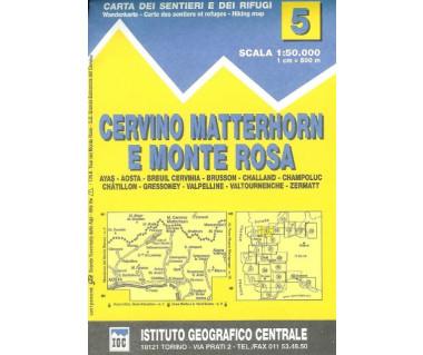 IGC50 05 Cervino Matterhorn e Monte Rosa - Mapa turystyczna